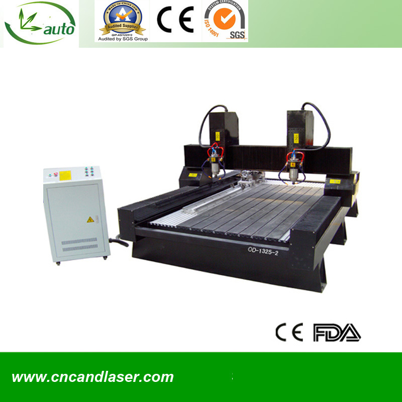 2 Heads CNC Router Machine for Stone Carving Od-1218-2