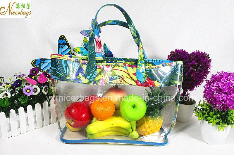 Beach Summer Fashion Clear PVC Beach Ladies Handbag Bags Set