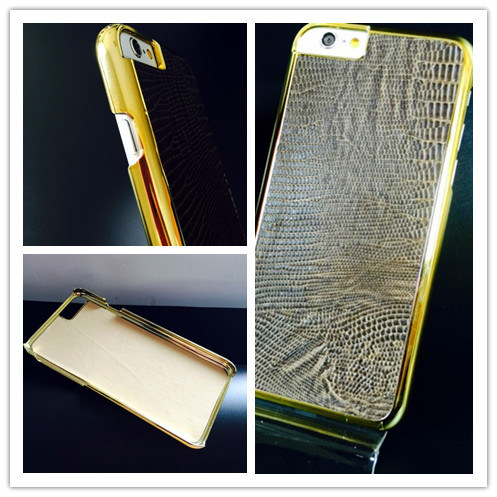 Crocodile Mobile Phone Case with Metallic Frame Case for iPhone 7 Case