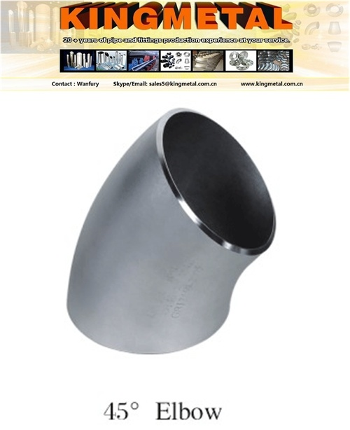 Sh3408 / Sh3409 Seamless Stainless Steel Elbow 45 Long Radius.