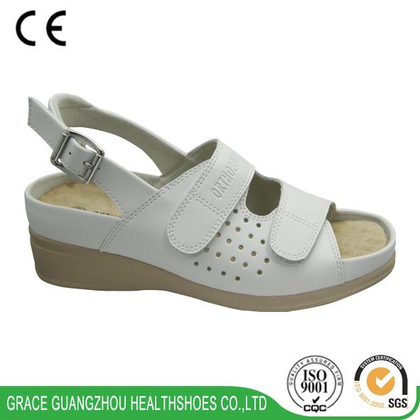 Grace Health Shoes 2016 Diabetic Shoes Leather Sandal Casual Shoes