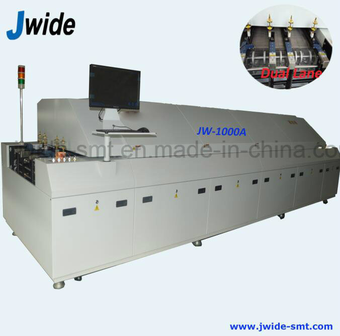 Dual Lane 10 Zone Reflow Soldering Furnace