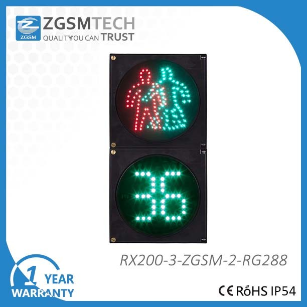 200mm 8 Inch 2 Digital Countdown and Pedestrian Digital Light Timer
