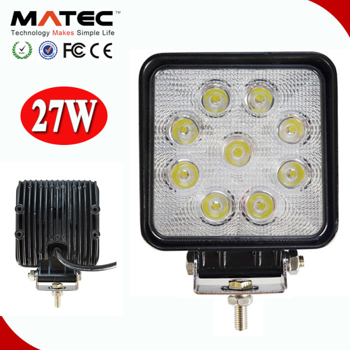 "Top Quality 4"" 10-30V DC 27W Offroad Truck SUV ATV Car LED Work Light"