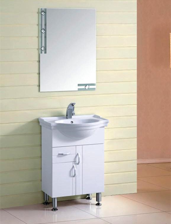 Hot Sale White Color Bathroom Vanity Cabinet (TL8002)