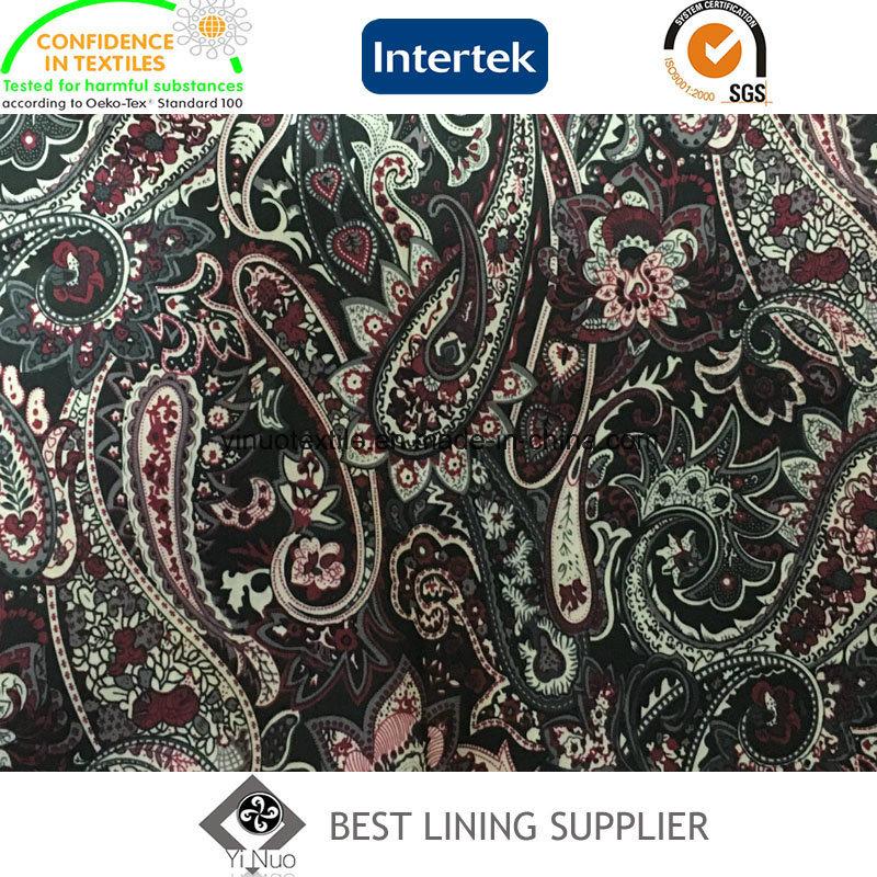 100% Polyester 290t Tafffeta Printed Lining Fabric Jacket Suit Lining