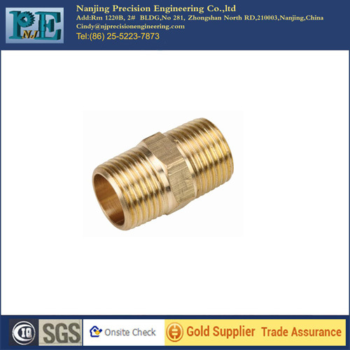 China Suppliers CNC Machining Brass Nipple
