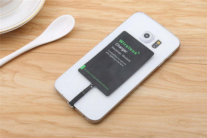 High Quality Qi Wireless Charger Receiver with Ti Solution for iPhone Android Type-C Input 1000mAh