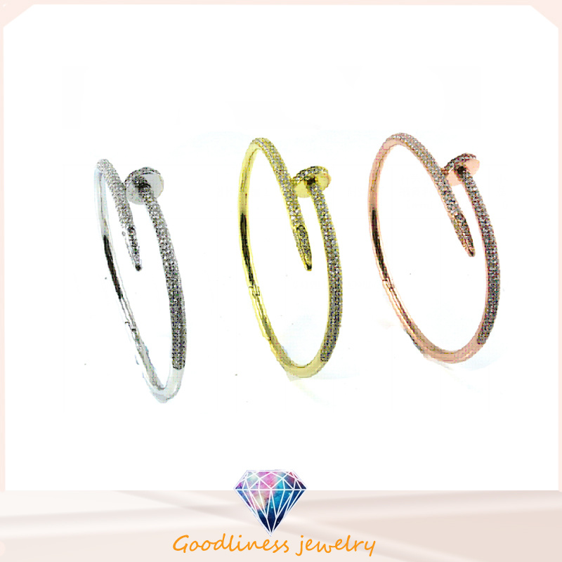 2016 Simple Style Wholesale Jewelry 925 Silver Bangle (G41283)