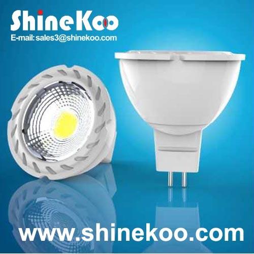 Aluminium MR16 5W COB LED Spotlight (SUN10-COB-MR16-5W-F)