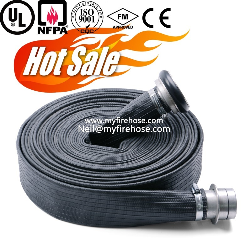 4 Inch Wear-Resisting Durable PVC Lined Fire Fighting Hose