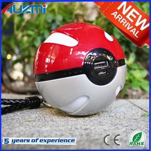 New Design 10000mAh Pokemon Go Power Bank with LED Light