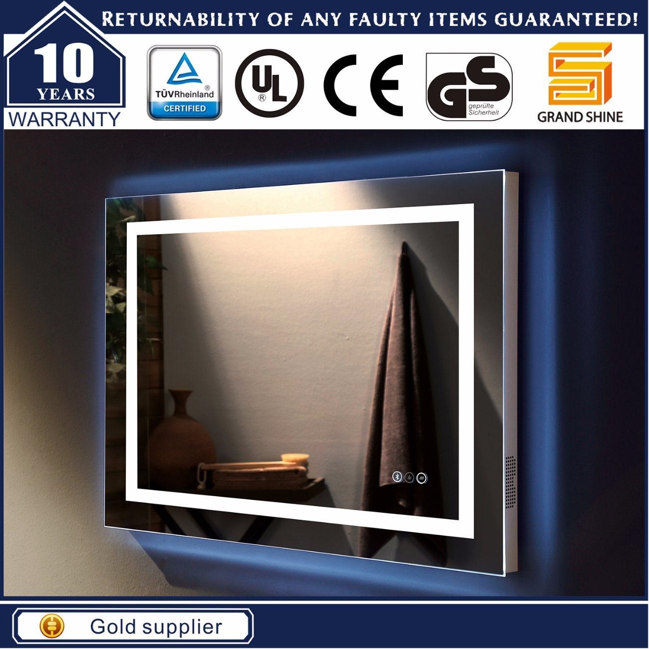 Us Wall Mounted Hotel Bathroom LED Backlit Lighted Mirror