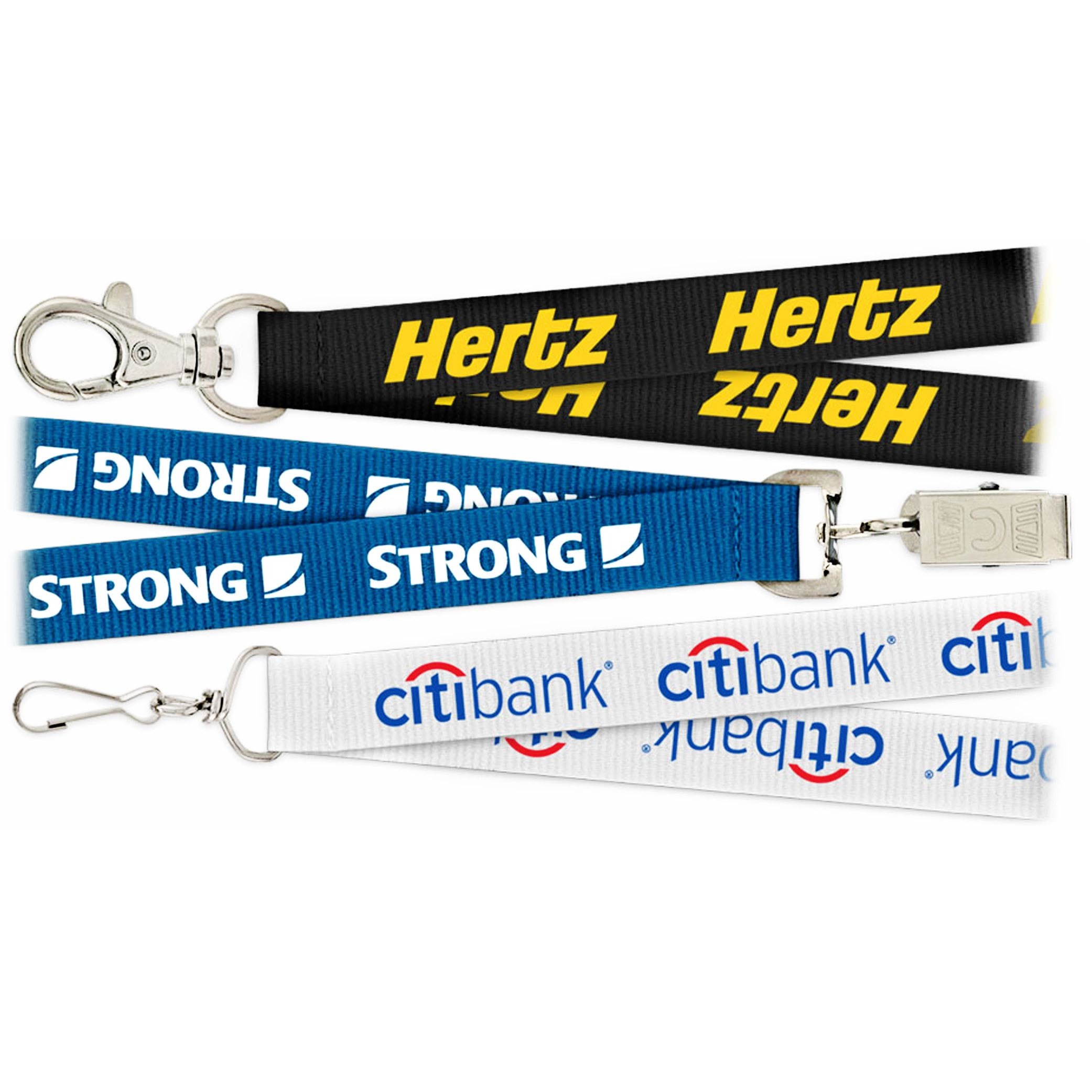 Screen Printing Custom Logo Polyester Lanyard