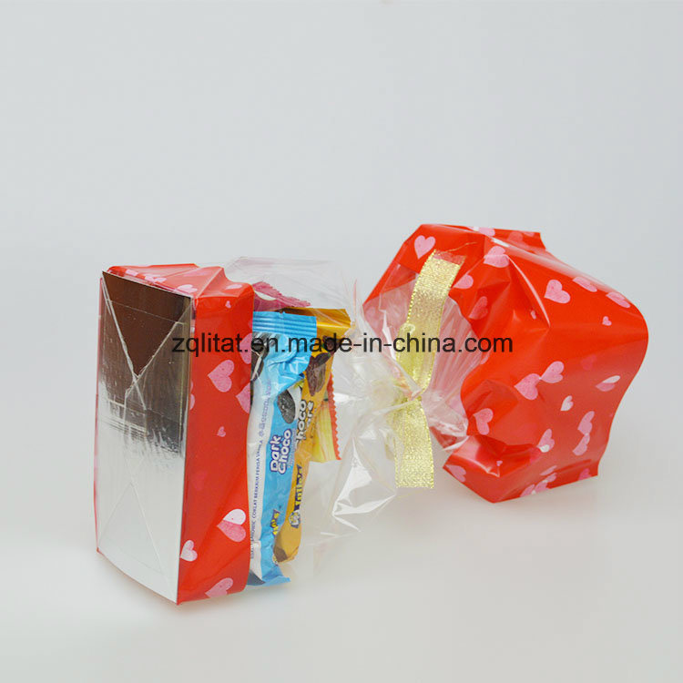 Customzied 40 Micron BOPP Transparent Poly Bag with Hard Bottom Card