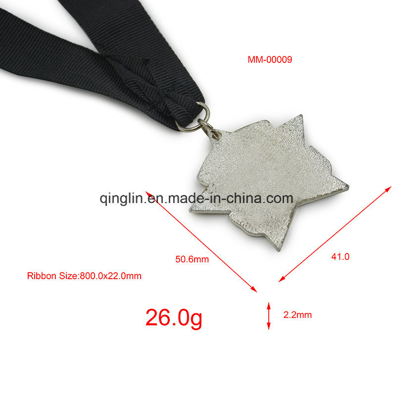 Custom Star Shape Zinc Alloy Metal Medals