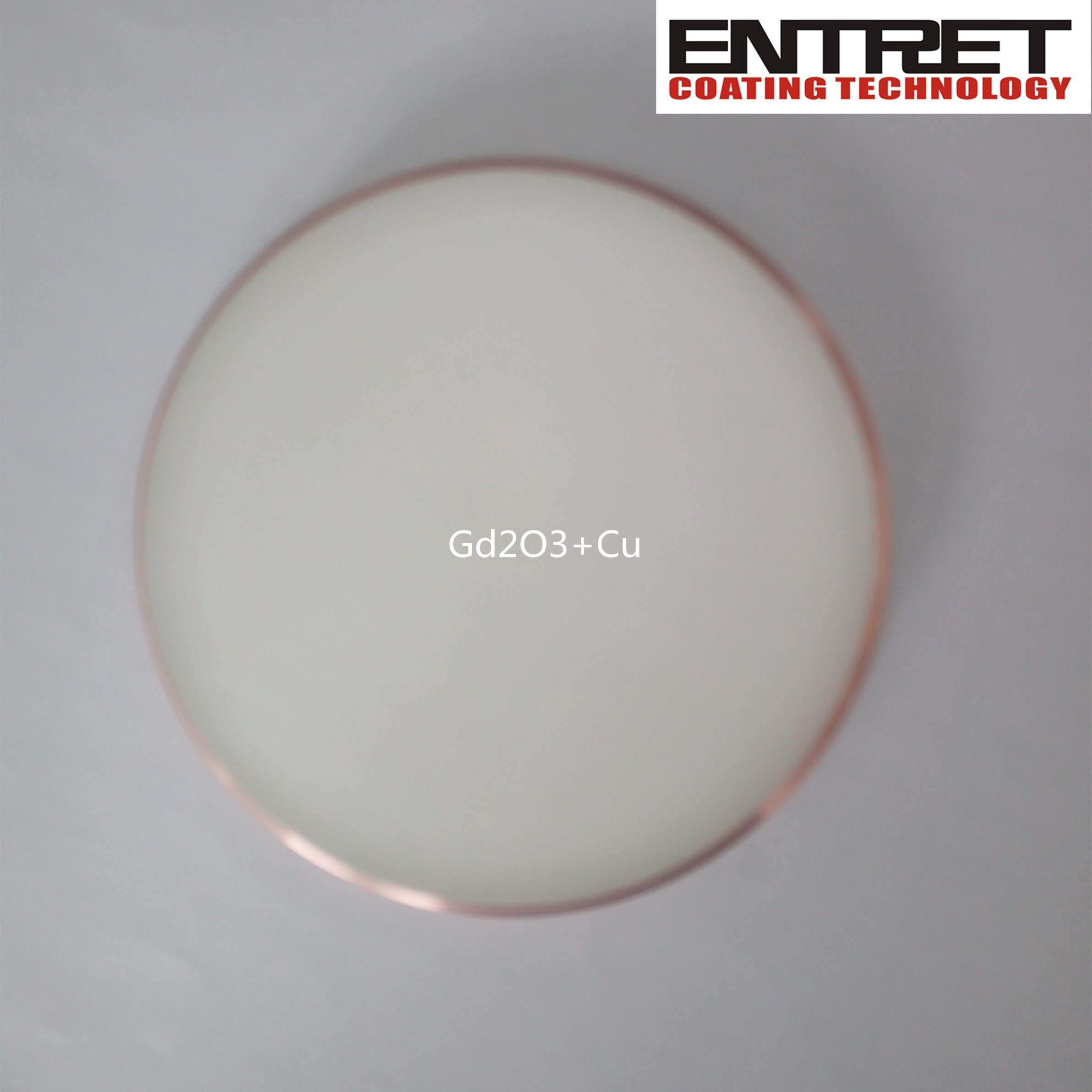 Sputtering Target: Gd2o3 Target Bonded with Copper Backing Plate