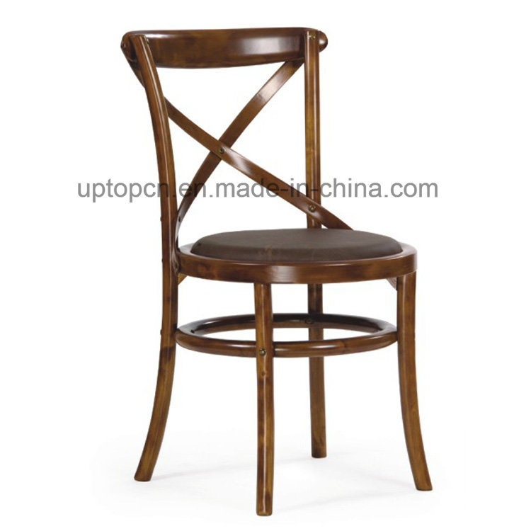 Wholesales X Back Wooden Armless Dining Cafe Chair (SP-EC142)