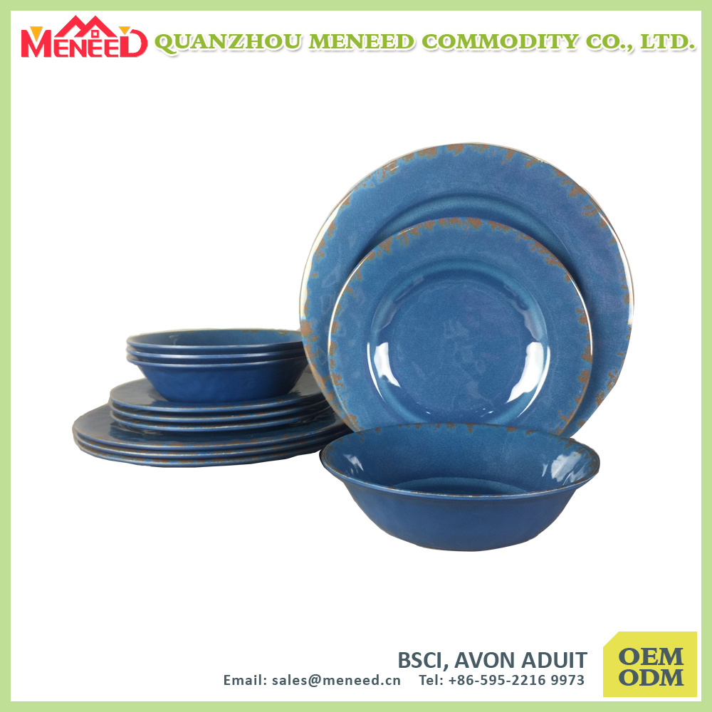 Hot Seller Rustic Melamine Dinnerware Set