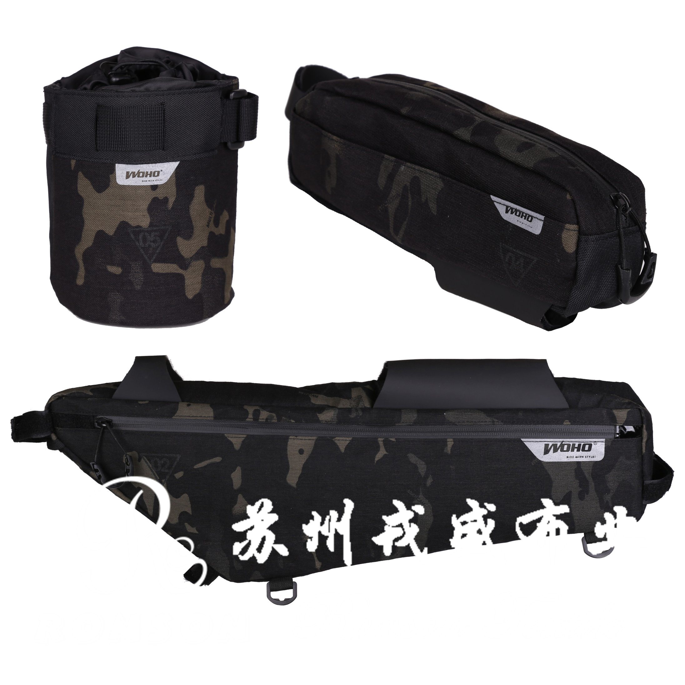 Multicam Black Cp Camouflage, 1050d PU Backing Cordura with Waterproof