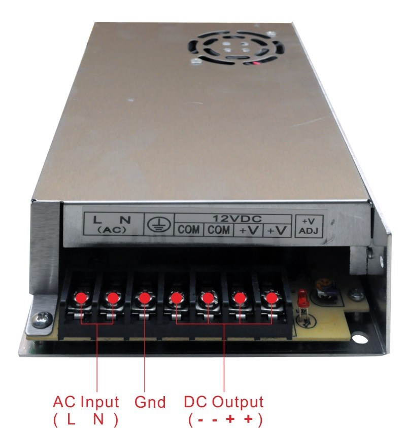 LED Indoor Switching Mode Power Supply 400W Eldv-12e400b