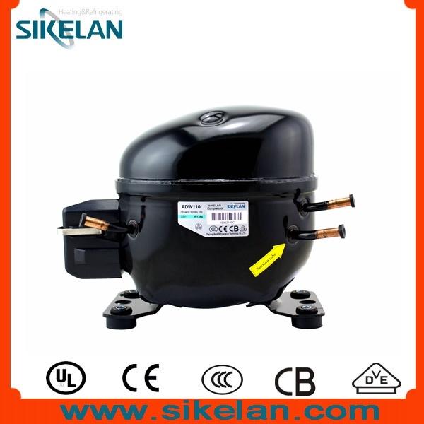 Refrigeration Compressor for Freezer, Showcase, Display Cooler, Adw110, Wq Size, 220V, R134A, Lbp