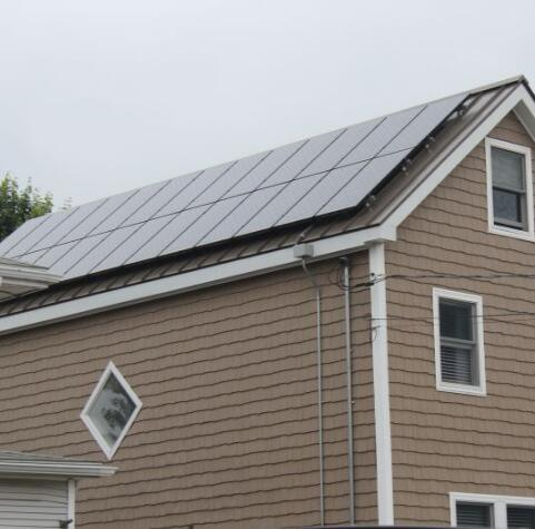 Grid-Tied Household Pitch Roof Complete Solar Power System