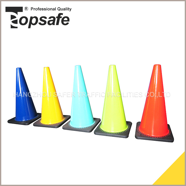28inch White, Blue, Yellow, Red Soft PVC Traffic Cone
