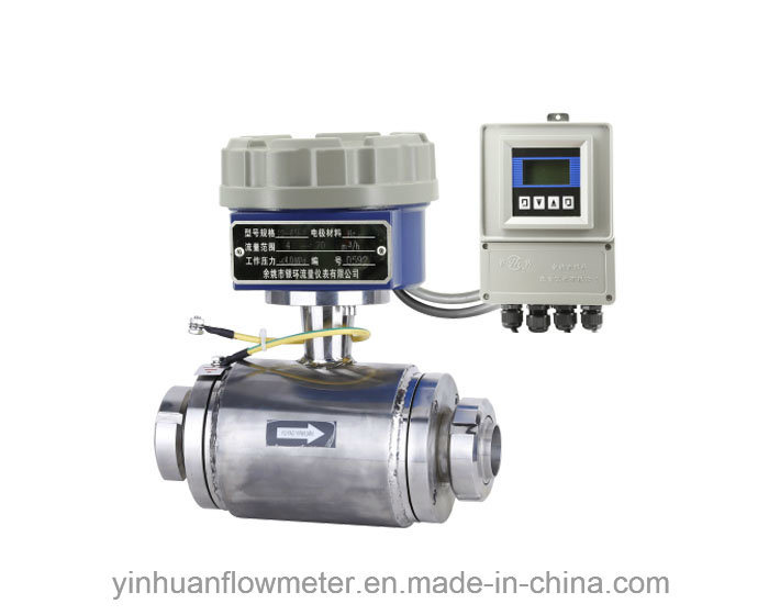 Screw-Thread Type Divided Electromagnetic Flowmeter