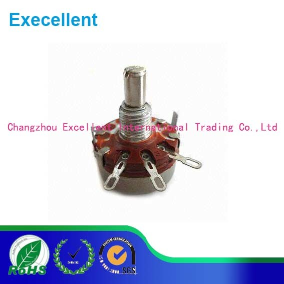 2W Wth118 1A Round Shaft Carbon Rotary Taper Potentiometer