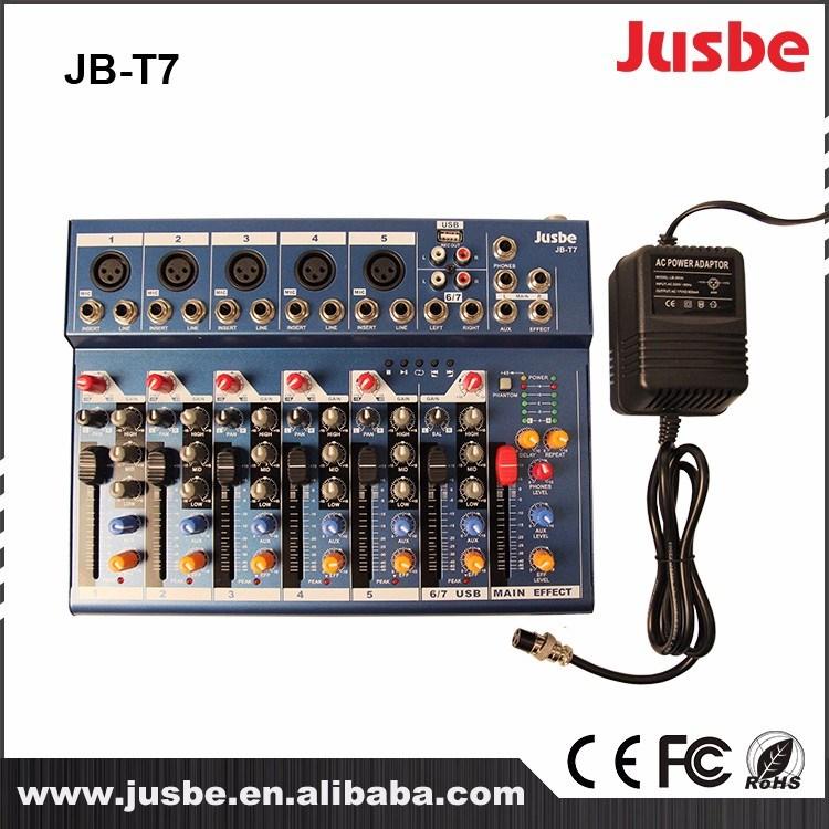 OEM DJ 7 Channel Stereo Digital Karaoke Sound Mixer