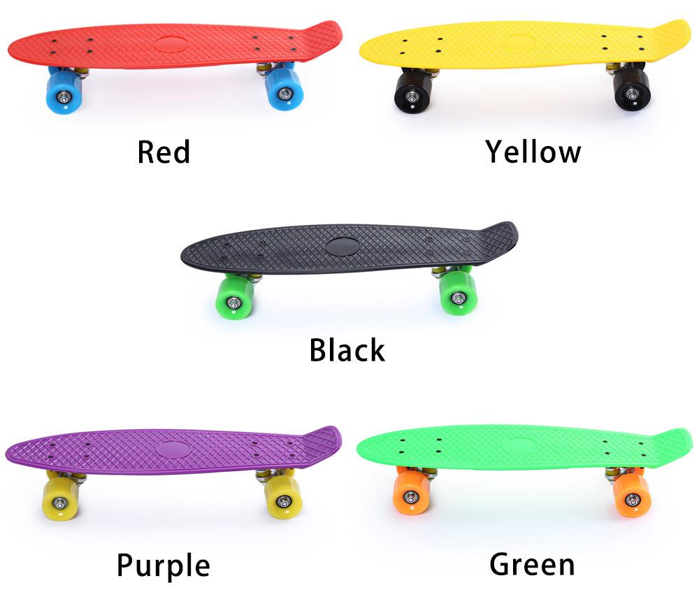 Popular Mini Cruiser Plastic Fish Skateboard All Color Available