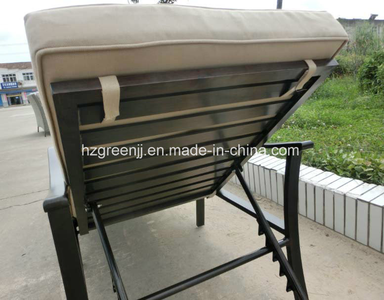 Power Coating Aluminium Chaise Lounger Outdoor Sunbed Furniture