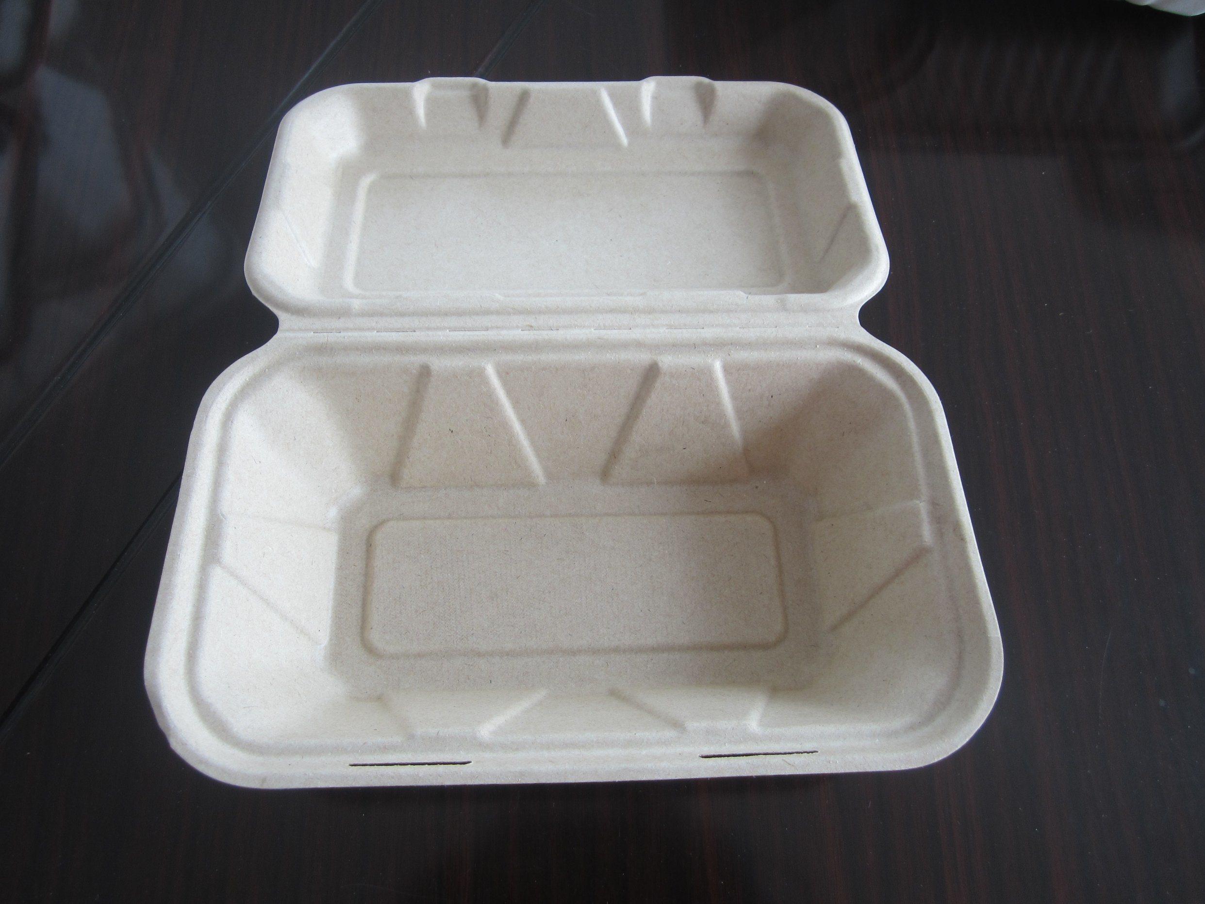 9X6X3 Composable Sugarcane Hamburger Box