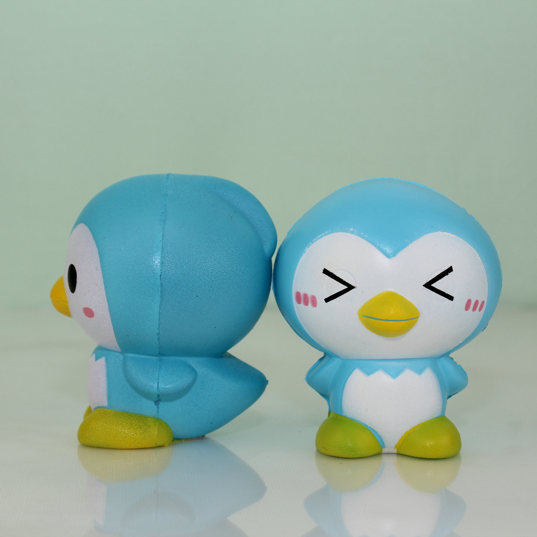 Latest Listing Blue Penguin Model PU Stress Toys