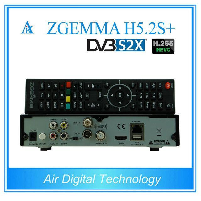 2017 New Powerful Zgemma H5.2s Plus Satellite Decoder Bcm73625 Linux OS E2 Hevc/H. 265 DVB-S2+DVB-S2/S2X/T2/C Triple Tuners