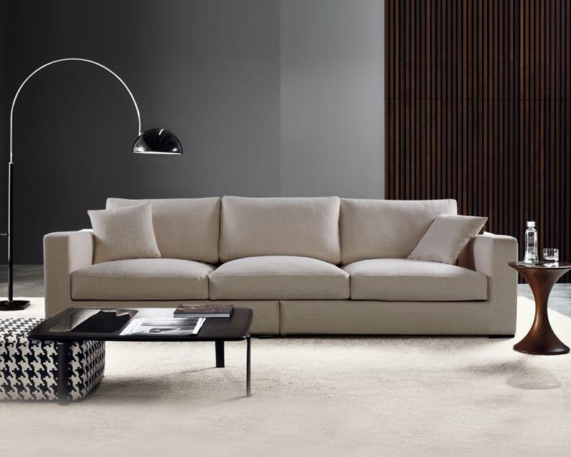 Home Furniture European Modern Concise Fabric Sofa (1+2+3)