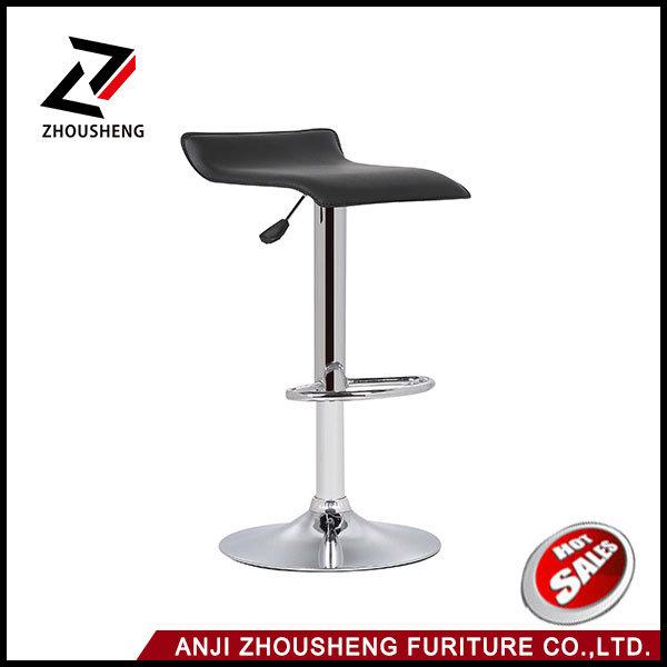modern Leather Adjustable Bar Stools Hydraulic Swivel Dining Chair