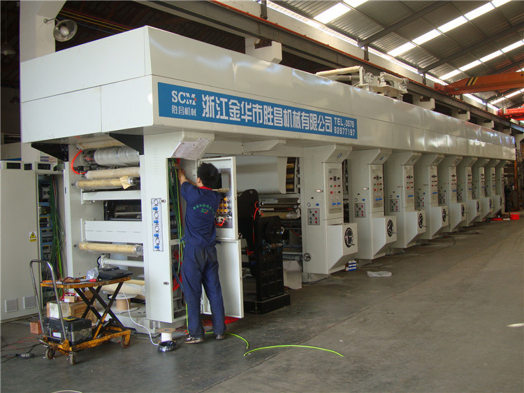Automatic PVC Shrink Label Gravure Printing Machine