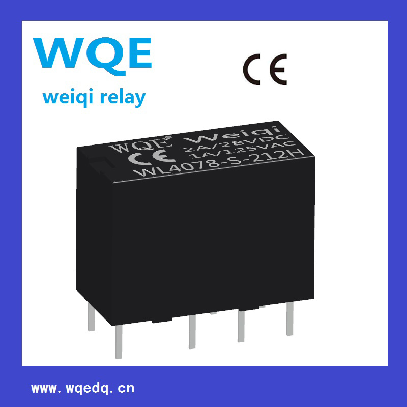 Miniature Size Double-Row Communication Reed Relay (WL4078) for Household Appliances &Industrial Use