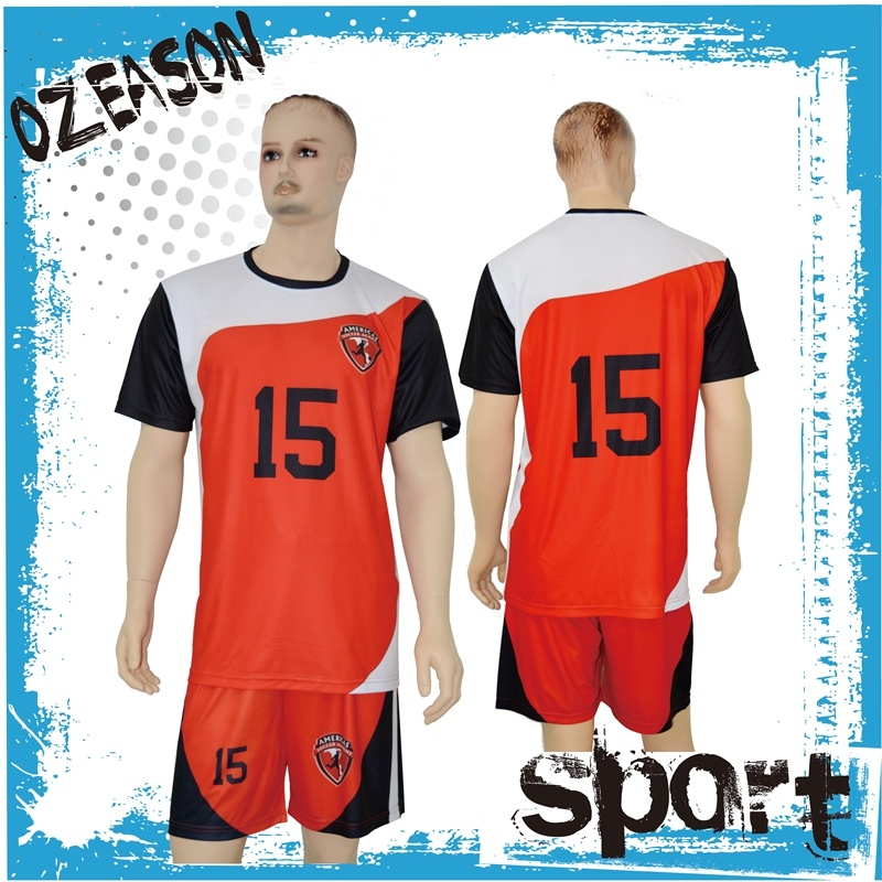 2016 Popular China Custom Polyester Quickly Dry Soccer Team Jersey (S006)