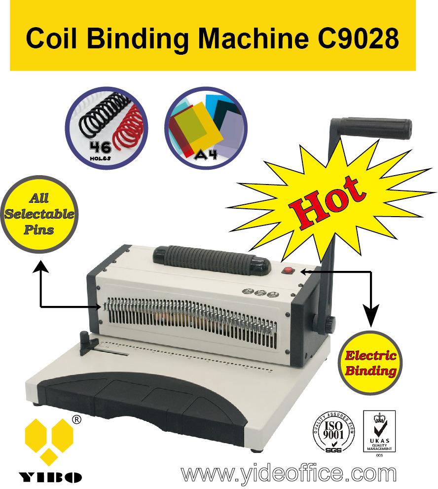 A4 Size Aluminium Spiral Binding Machine (C9028)