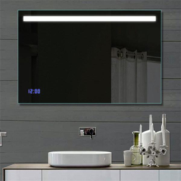 Wall Hanging Hotel Project Bathroom LED Lighting Defogger Mirror