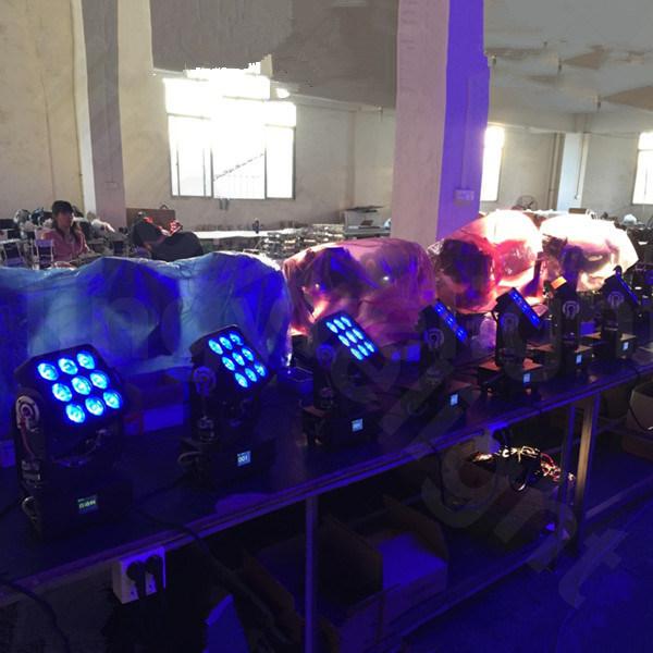 9PCS 10W Mini LED Moving Head Lighting Stage Equipment