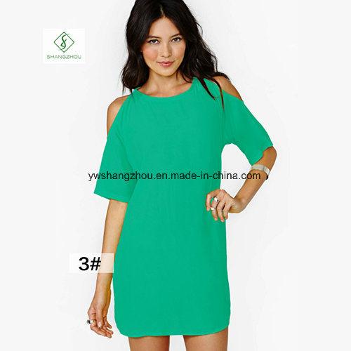 2017 Fashion Euramerican Short Sleeved Chiffon Strapless Maxi Dress Factory
