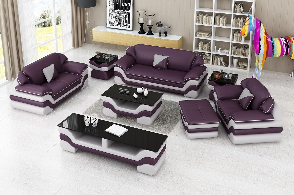 Modern Furniture Home Leather Sofa Set