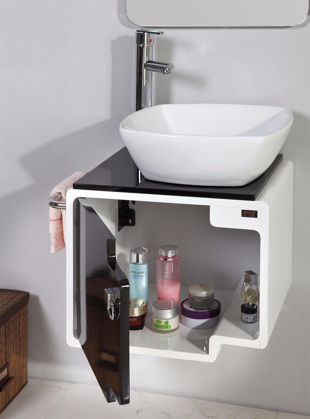 Sanitary Ware Wall Mounted MDF White Bathroom Vanity Furniture