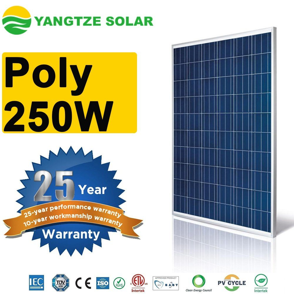 Top 10 Supplier 250W PV Solar Photovoltaic Panels