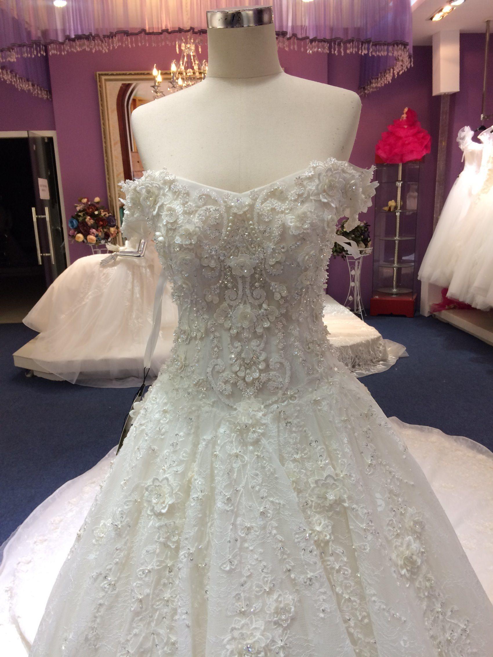 Aoliweiya Design Princess Real Sample High Quality Wedding Dresses
