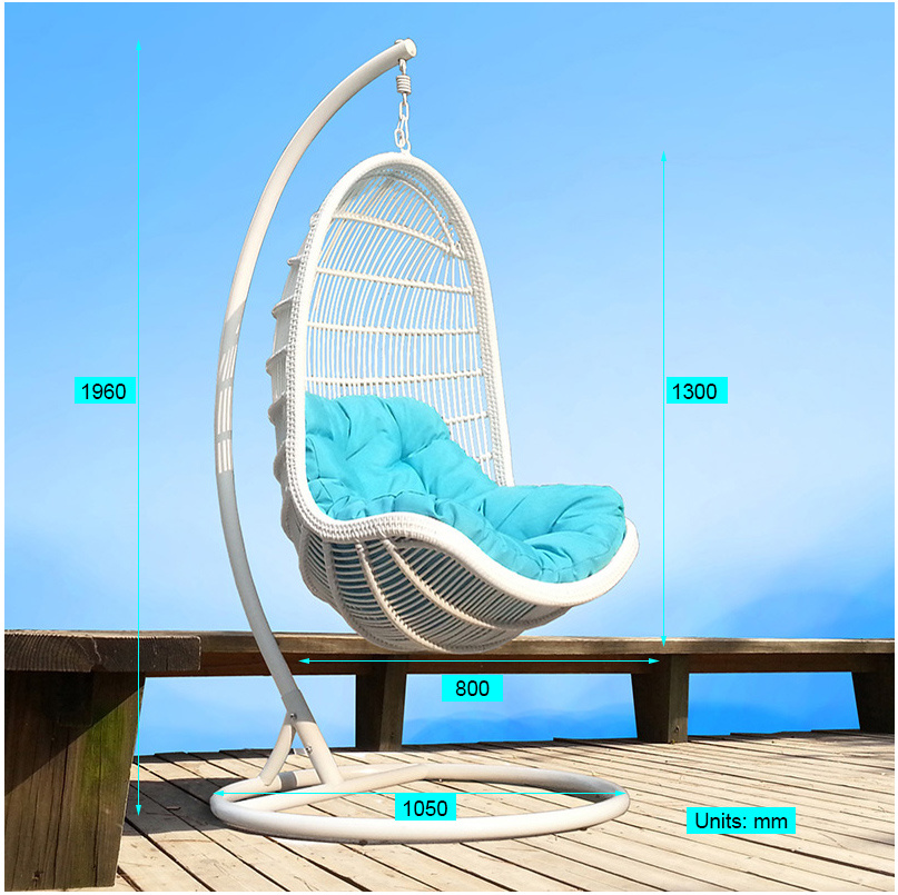 Modern Garden Lounge New Leisure Wicker Home Hotel Office Hanging Chair (J807)